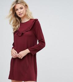 Платье-трапеция с оборкой Brave Soul Tall - Красный