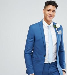 Синий супероблегающий пиджак с квадратными полами Noak TALL Wedding - Синий