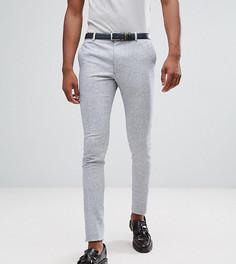 Супероблегающие строгие брюки из эластичного твида Heart & Dagger TALL - Синий