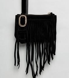 Сумка-кошелек на пояс с бахромой Reclaimed Vintage Inspired - Черный