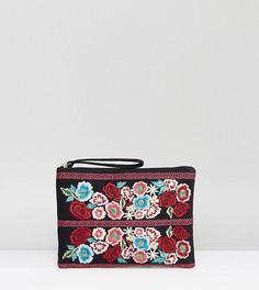 Клатч с цветочной вышивкой Reclaimed Vintage Inspired - Мульти