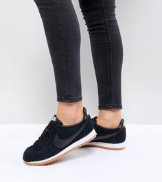 Черные замшевые кроссовки на резиновой подошве Nike Classic Cortez - Черный