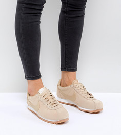 Замшевые кроссовки на резиновой подошве Nike Classic Cortez - Коричневый