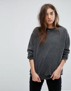 Оверсайз-свитер с выбеленной отделкой Uncivilised - Черный
