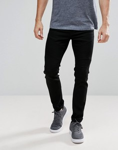 Байкерские джинсы скинни Voi Jeans - Черный