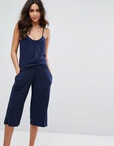 Пижама с майкой и широкими штанами Lazy Days - Темно-синий