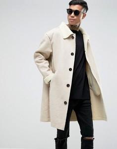 Белое пальто из искусственной овчины Sixth June - Белый