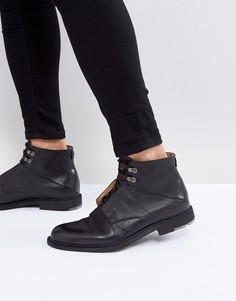 Черные кожаные ботинки BOSS Orange by Hugo Boss - Черный