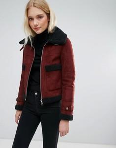 Укороченное пальто с большими карманами Urbancode - Красный