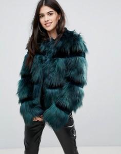 Пальто из искусственного меха Urbancode - Зеленый