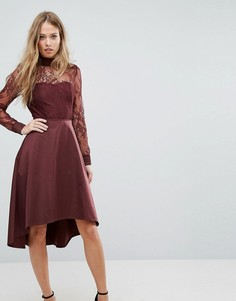 Кружевное платье с открытой спиной Y.A.S - Серебряный