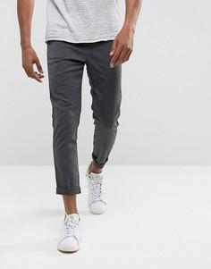 Суженные книзу серые брюки Solid - Серый