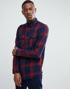 Рубашка классического кроя из плотного хлопка в клетку Only & Sons - Красный