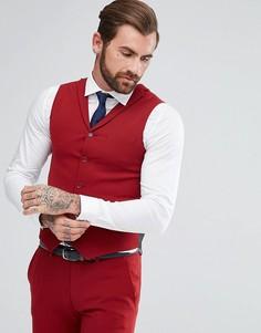Красный приталенный жилет ASOS - Красный