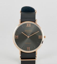 Часы с черным кожаным ремешком Reclaimed Vintage Inspired эксклюзивно для ASOS - Черный