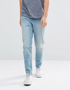 Голубые джинсы суженного книзу кроя ASOS - Синий