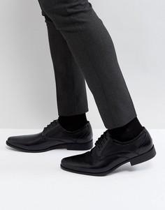 Черные туфли из искусственной кожи на шнуровке ASOS - Черный
