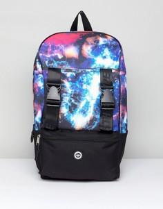 Рюкзак с галактическим принтом Hype - Темно-синий