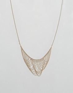 Эффектное ожерелье Nylon - Золотой