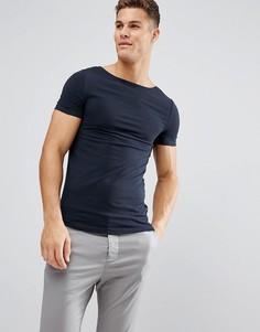Обтягивающая футболка ASOS - Темно-синий