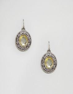 Винтажные серьги-подвески с камнями Nylon - Золотой