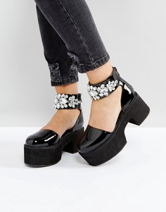 Декорированные туфли на каблуке ASOS OPIA - Черный