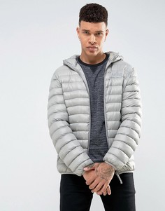 Дутая куртка с капюшоном Tokyo Laundry - Серый