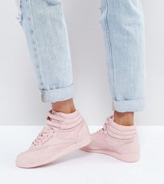Розовые высокие кроссовки Reebok Classic Freestyle - Розовый