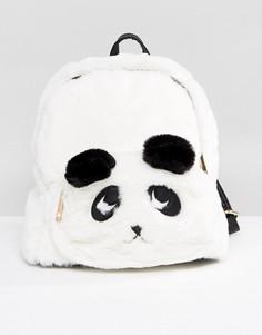Рюкзак Панда из искусственного меха Yoki Novelty - Белый