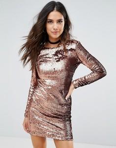 Платье с пайетками Motel Gabby - Медный