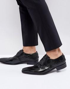 Черные броги на шнуровке Jeffery West Yardbird - Черный
