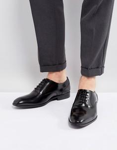 Черные кожаные оксфорды на шнуровке ASOS - Черный