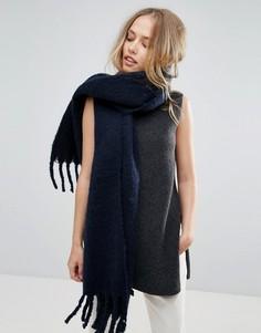 Темно-синий супермягкий шарф Yumi - Темно-синий