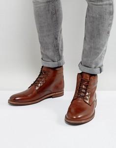 Коричневые кожаные ботинки на шнуровке Dune - Коричневый