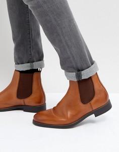 Светло-коричневые кожаные ботинки челси Dune - Рыжий