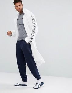 Белый халат с логотипом Emporio Armani - Белый
