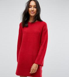 Трикотажное оверсайз-платье мини ASOS TALL - Оранжевый