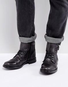Черные кожаные ботинки Steve Madden Galvaniz - Серый