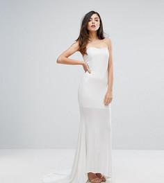Платье-бандо макси Club L - Белый