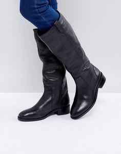 Кожаные сапоги на плоской подошве ASOS CODY - Черный