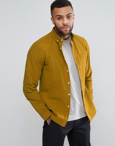 Фактурная рубашка горчичного цвета с карманом ASOS - Желтый
