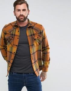 Рубашка навыпуск в стиле вестерн ASOS - Коричневый