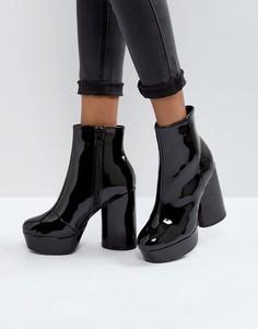 Лакированные ботинки на платформе Call It Spring Crini - Черный