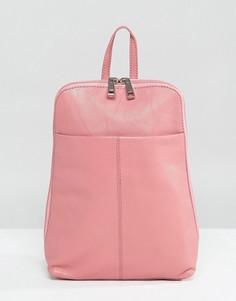 Кожаный рюкзак мини ASOS - Розовый