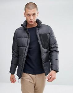Черная стеганая пуховая куртка из ткани рипстоп Penfield Hanlon - Черный