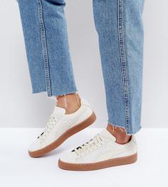 Бежевые замшевые кроссовки с каучуковой подошвой Puma - Бежевый