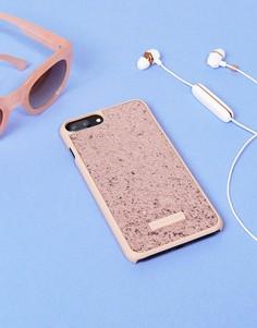 Розовый чехол для iPhone [#0]}/7/8 Plus+ с блестками Skinnydip - Мульти
