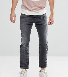 Укороченные суженные книзу джинсы серого цвета Diesel Jifer 084JK - Серый