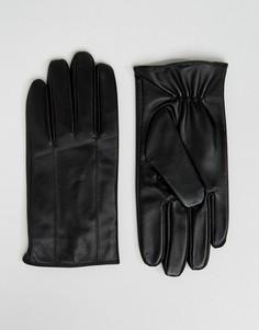 Черные кожаные перчатки Barneys - Черный Barneys Originals
