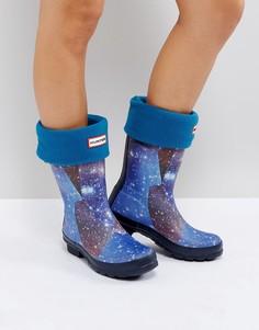 Синие толстые носки Hunter Original - Синий